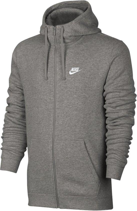 e7b62b10ab4 Nike Sportswear Club Hoodie FZ BB Sporttrui Heren - Dk Grey Heather/Dk Grey  Heather