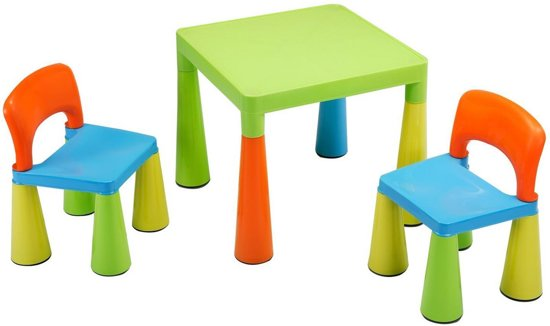 Plastic Stoel Kind : Bol multi gekleurde tafels en stoelen voor kinderen sm un