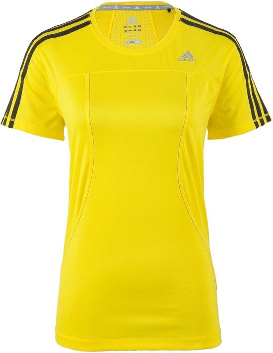 adidas Response Sportshirt Vrouwen Maat L Geel