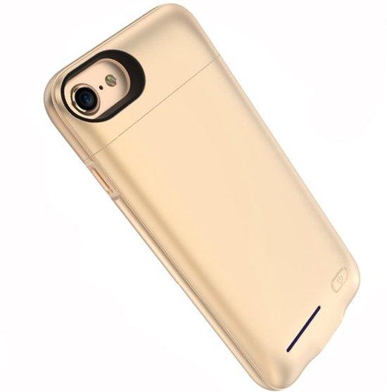 BestCases.nl Goud smart batterij hoesje / battery case met stand functie voor Apple iPhone 6 / 6s en Apple iPhone 7 en iPhone 8