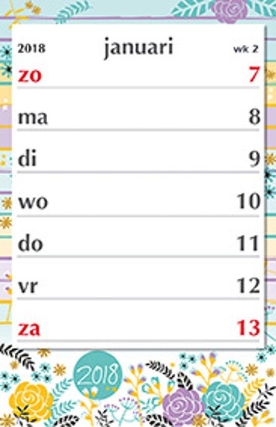 Grootletter Kalender Mgpcards 2018 - Notitie XL Bloem - Grote letters/cijfers - 1 Week/1 pagina - 21 x 27,5 cm