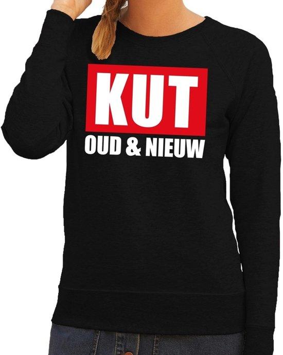 Foute jaarwisseling trui / sweater kut oud en nieuw zwart dames XL (42)