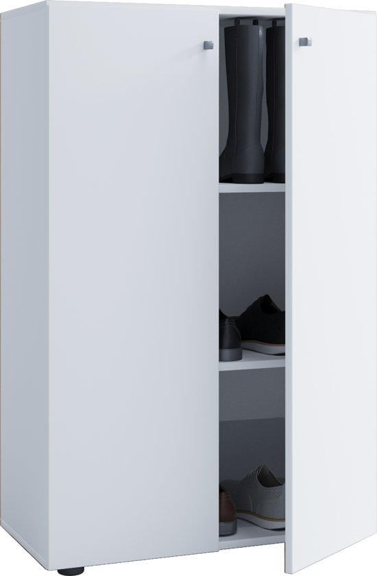 Kledingkast opbergkast ( kinderkamer ) Vandol Lonal Mini 110 cm hoog 3 opbergvakken wit