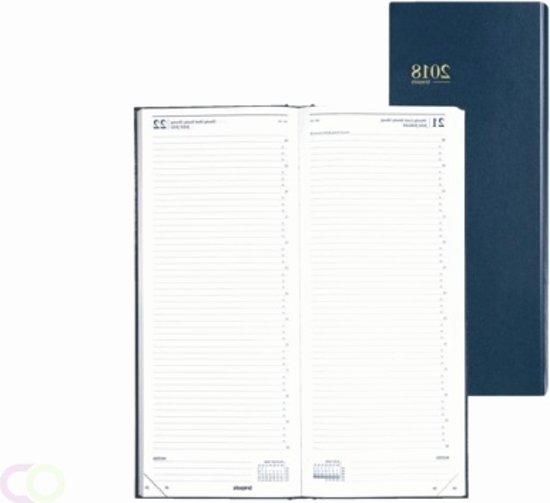 Agenda Brepols 2019 - Saturnus lang - 1 dag/1 pagina - Blauw -  13,5 x 33 cm