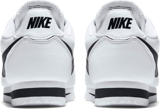 Classic Mannen 46 Cortez Wit zwart Leathersportschoenen Maat Nike 8AwxqR67OO