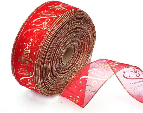 Merry Christmas -  Lint - Slinger - Decoratie - Kerstboom - Kerst - Kerstmis - 2 meter - Rood