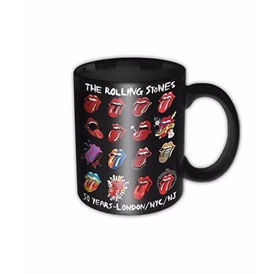 rolling stones 50 jaar bol.| Mok / beker Rolling Stones 50 jaar zwart 325 ml rolling stones 50 jaar