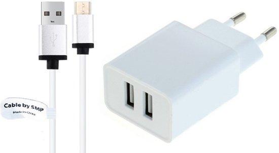 2,4A Lader en oplaadkabel. 1 m Laadkabel snoer en thuislader stekker geschikt voor: LG. o.a. U, Harmony, Stylus 3, Stylo 3 + Plus, X Power2