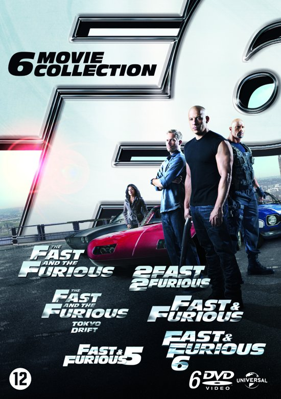 fast furious 1 t m 6 dvd vin diesel dvd 39 s. Black Bedroom Furniture Sets. Home Design Ideas