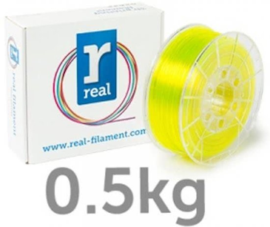 REAL Filament PETG transparant geel 2.85mm (500g)