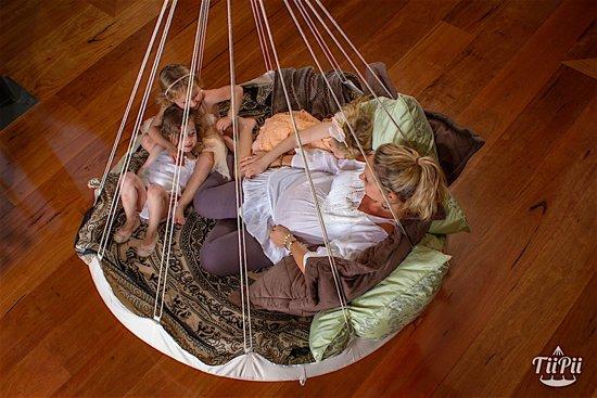 TiiPii bed hangmat groen - 180 cm