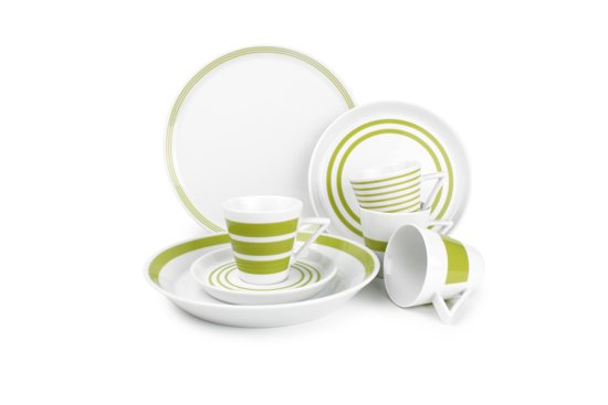 Salt En Pepper Servies.Bol Com Salt Pepper Stripes Servies Groen 20 Delig