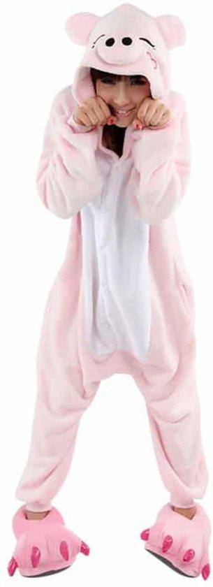 8bc53780a46 Biggetje Onesie Verkleedkleding - Volwassenen & Kinderen - XL (175-195 cm)