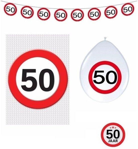 Bol Com 50 Jaar Verkeersbord Versiering Basis Set 50ste