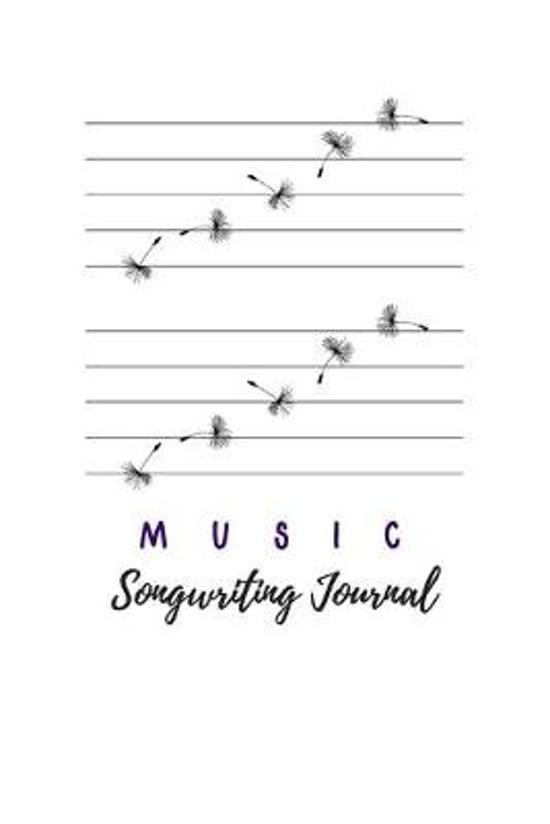 Music Songwriting Journal: Blank Manuscript Paper For Lyrics And Music. For Musicians, Music Lovers, Students, Songwriting Notebook Journal 6'' x