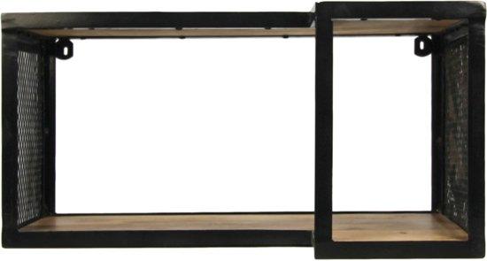 HSM Collection Wandplank Brixton - 60x30 cm - mangohout/ijzer
