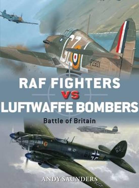 Boek cover RAF Fighters vs Luftwaffe Bombers van Andy Saunders (Paperback)
