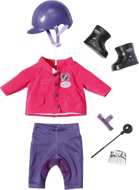 BABY born Luxe Ponyboerderij Paardrijd-outfit - Poppenkleertjes