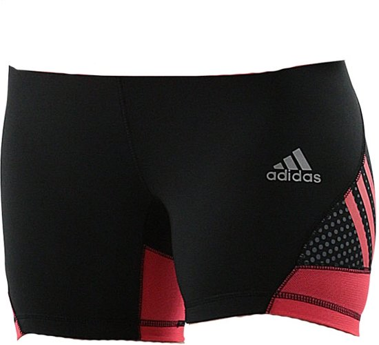 adidas Speed line Train short tight Women Shock Red / Zwart Large