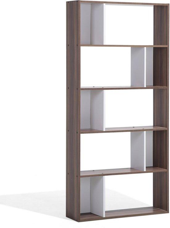 beliani orilla boekenkast mdf bruin 83x23x174