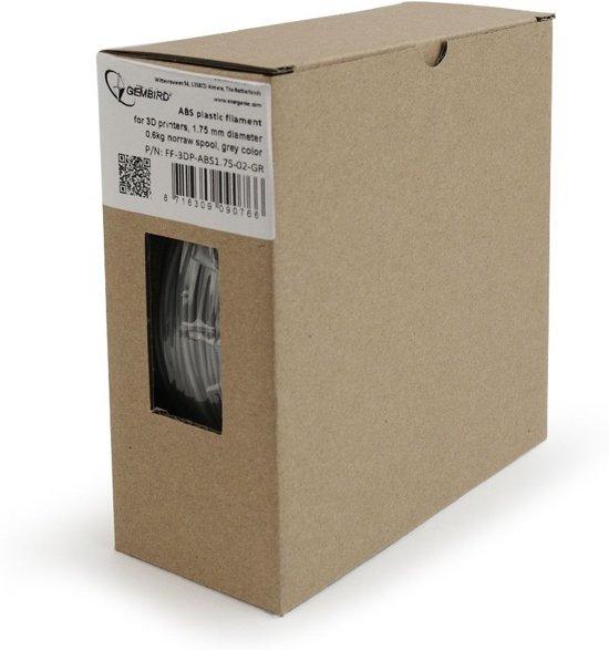 Gembird3 FF-3DP-ABS1.75-02-GR - Filament (600 g) ABS, 1.75 mm, grijs