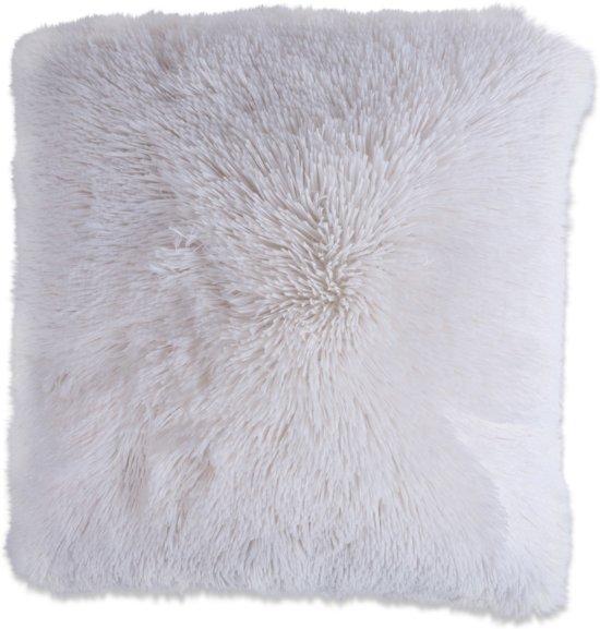 In The Mood Fluffy - Sierkussen - 45x45 cm - Brightwhite