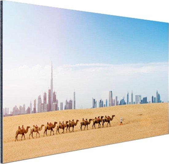 Dubai landschap Aluminium 60x40 cm - Foto print op Aluminium (metaal wanddecoratie)