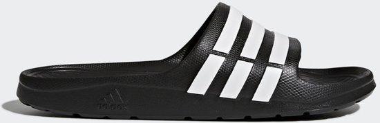 adidas Duramo Slippers Volwassenen - Core Black / White / Core Black - Maat 40 2/3