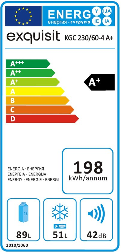 Exquisit KGC230/60-4A+