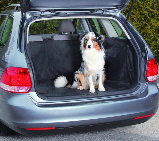 Beasty Auto Beschermhoes voor Kofferbak met Kliksluitingen - 146 x 146 cm - Zwart | Voor Honden | Tegen Vuil en Beschadigingen| Achterbank Hoes | Hondenkleed| Autodeken  | Autobeschermhoes