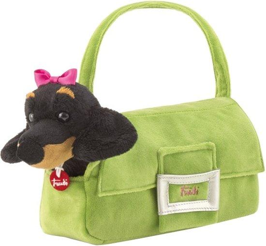 8ecc3e669b7285 bol.com | Trudi Knuffel Hond In Tas Groen/zwart 20 Cm, Trudi | Speelgoed
