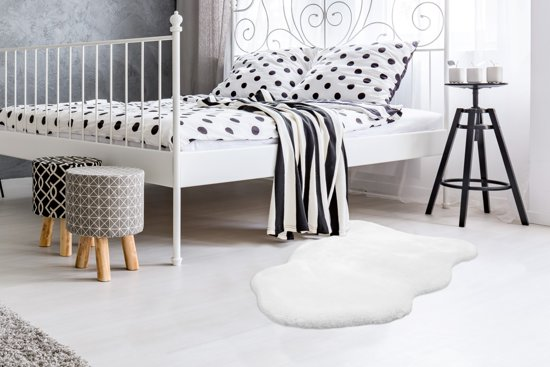 Arte Espina Modern vloerkleed Rabbit Sheepskin 200 Wit