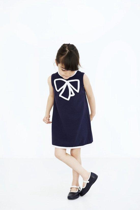 0c8b3a4ef60883 Meisjes jurk blauw biologisch katoen mouwloos Royal Pea