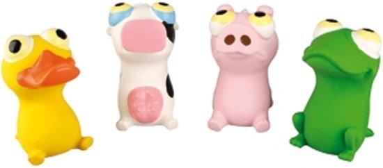 Flamingo latex speeltje roze varken hondenspeelgoed