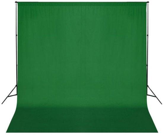 vidaXL Achtergrond doek 300 x 300 cm. Chroma key