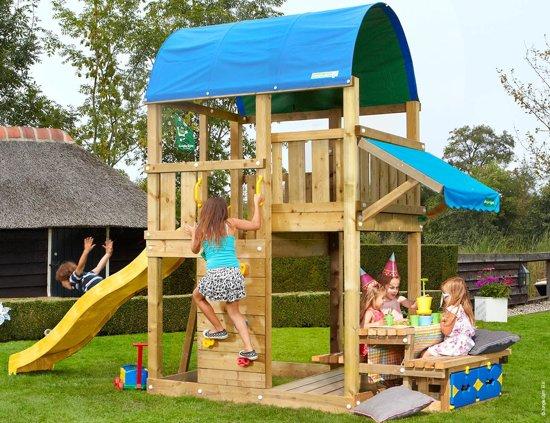 Jungle Gym - Farm Mini Picnic 160 - Houten Speelset voor Buiten - Met Glijbaan - Geel