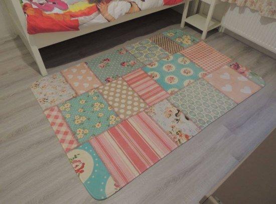 Comfortabel Vloerkleed Babykamer : Bol vintage vloerkleed kinderkamer patchwork  cm