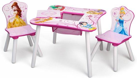 Disney princess tafel en stoelen set licht roze 60 x 60 x 44 - Tafel roze kind ...