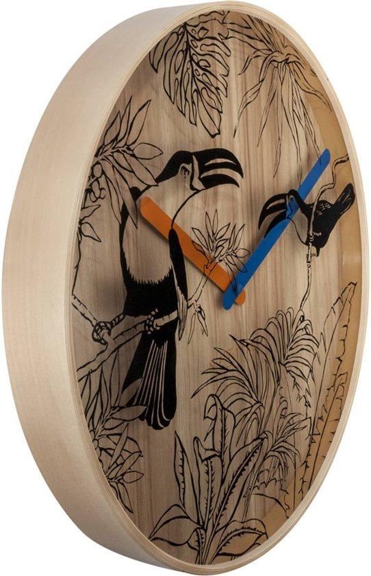 NeXtime Tropical Birds Wandklok à 40 cm