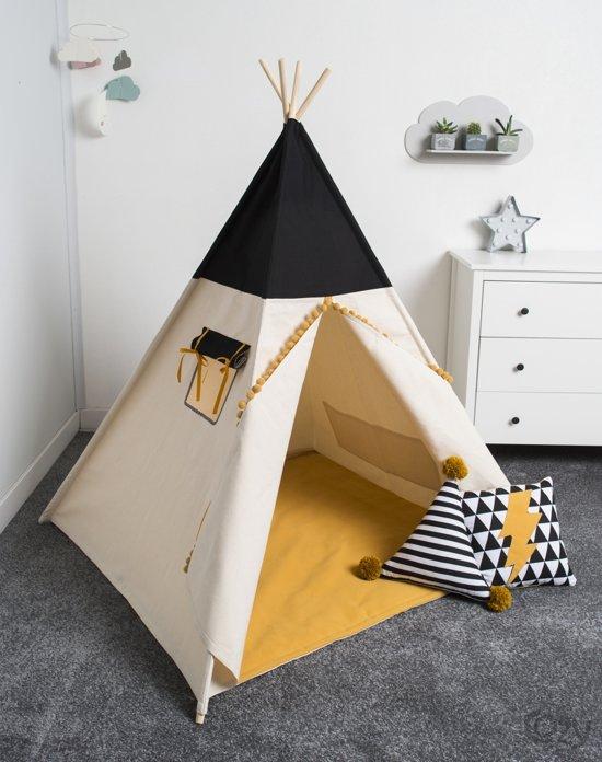 FUJL - Tipi Tent - Speeltent - Wigwam - kinder tipi -  Set Honey - Inclusief asseccoires