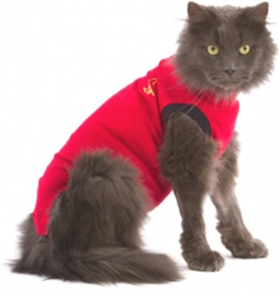 Medical Pet Shirt Kat - Rood - S