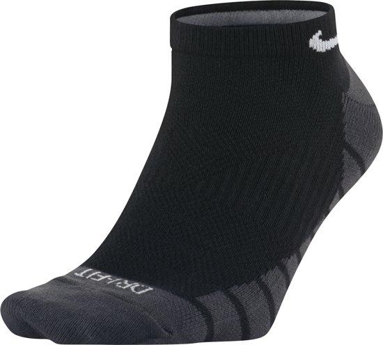 Nike Dry Lightweight No-Show Enkelsokken Hardloopsokken - Maat 42-46 - Unisex - zwart/grijs/wit