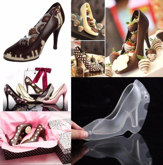 Kunststof mal - hoge hak / schoen / pump - voor chocolade, marsepein of fondant - groot