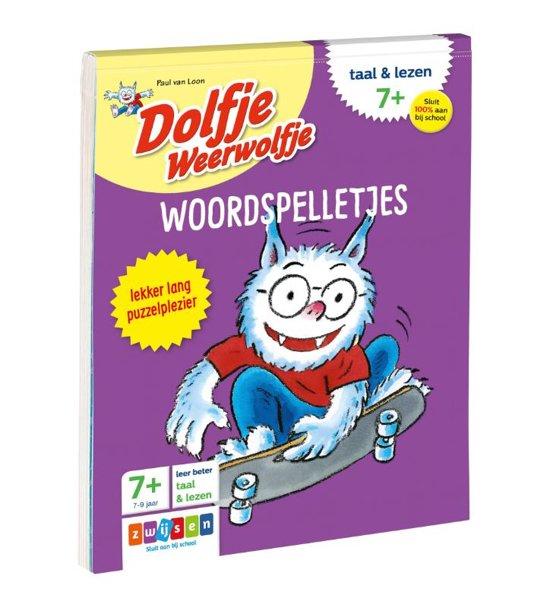 Boek cover Dolfje Weerwolfje - Woordspelletjes Taal & lezen 7+ van Paul van Loon (Onbekend)