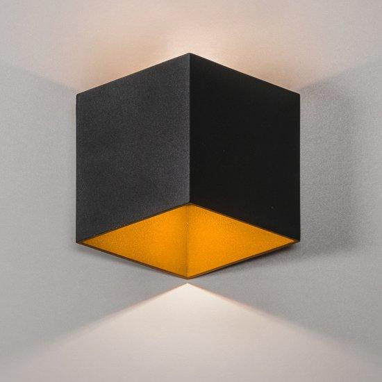 Wandlamp Buiten Vierkant LED Zwart - Gardenleds Bellis