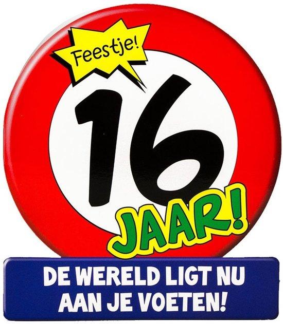 Bol Com Stopbord Wenskaart 16 Jaar
