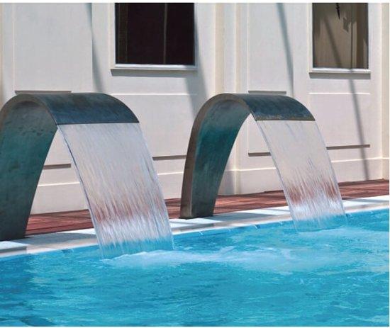Aquaforte Waterval RVS Cobra 70 cm voor vijver en zwembad