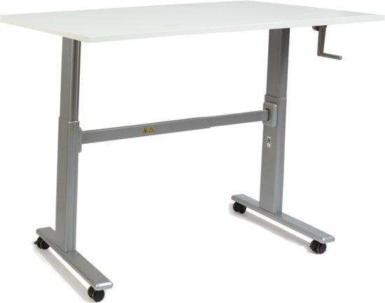 Zit sta bureau s100 werkblad wit 80 x 60 cm for Bureau zit sta
