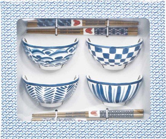 Blond Amsterdam - Asia - Cadeauset Kom en Chopsticks - set van 4