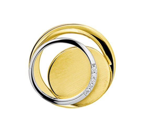 The Jewelry Collection Hanger Diamant 0.03ct H Si - Bicolor Goud